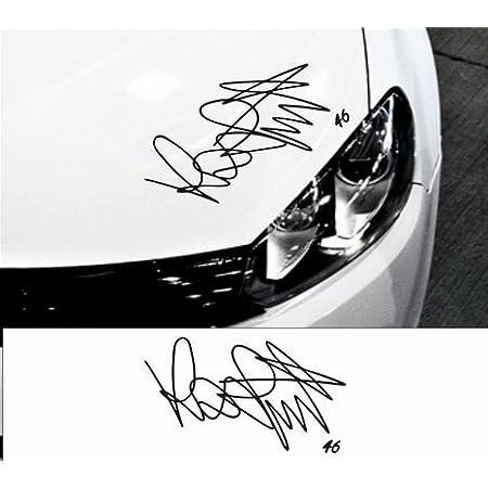Hochwertiger Valentino Rossi Autogramm Unterschrift 46 Aufkleber 20 Cm Breite Freie Farbwahl Valentino Rossi Vr 46