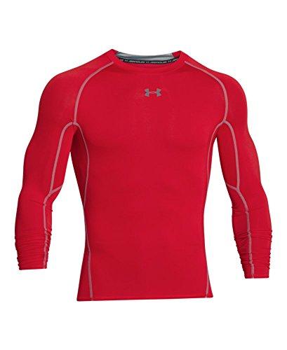 Under Armour UA HeatGear Long Sleeve, Long-Sleeve Functional Shirt, Breathable Long-Sleeve Shirt for Men Men, Red (Red/Steel (600)), M