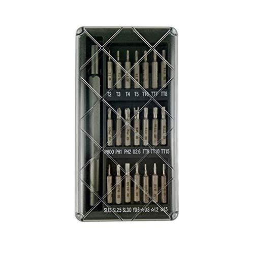 XJF Juego de destornilladores de precisión 22 en 1 Mini destornillador kit de herramientas con estuche de almacenamiento