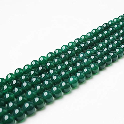 6/8/10/12Mm Green Agates-Beads Fashion Natural Stone Scattered Beads DIY Bracelet Neckace Accessories Make Green Agates beads 4mm 93beads