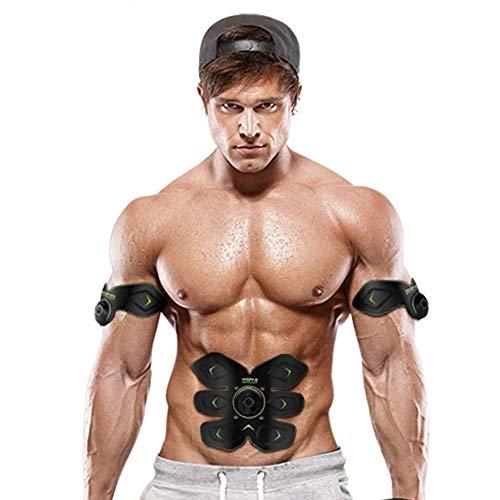 Electroestimuladores de fitness EMS ABS Cinturones de masaje abdominal Estimuladores eléctricos, carga...