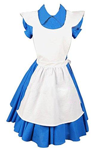 Alice In Wonderland Movie Blue Alice Dreß Kleid Cosplay Kostüm XXXL