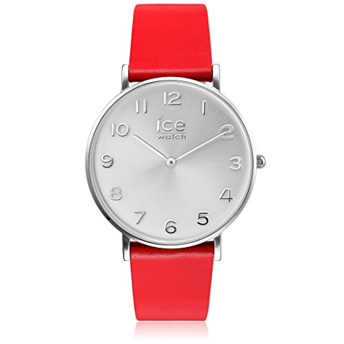 Ice-Watch - CITY tanner Red Silver - Women's wristwatch with leather strap - 001509 (Small)