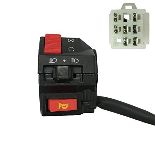 JA-ALL 7 Wire LH Handlebar Starter Switch for Kazuma 110 150 Falcon ATV