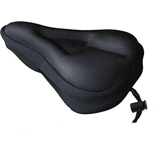 Sillines de bicicleta de gel 3D suave engrosado, asiento de bicicleta transpirable, funda de asiento de espuma cómoda para asiento de bicicleta de montaña, cojín de ciclismo (color: negro)