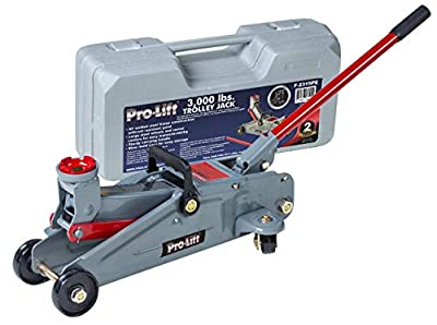 Pro-LifT F-2315PE Grey Hydraulic Trolley Jack Car Lift with Blow Molded Case-3000 LBS Capacity (Renewed)