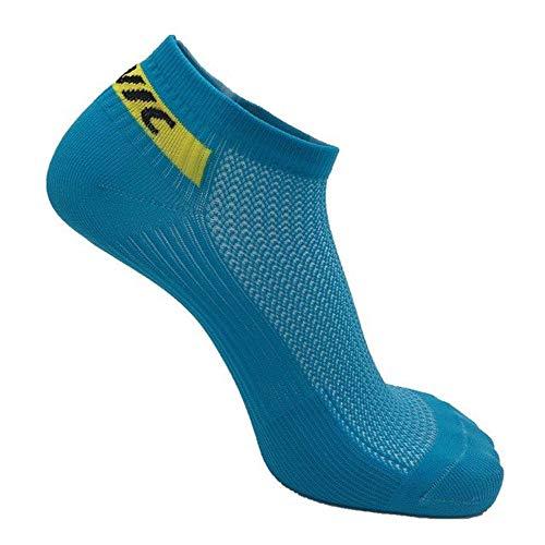 Wdonddonyjw Calcetines de Yoga Hombres Mujeres Profesionales Corto Calcetines Calcetines de Ciclismo al Aire Libre Respirable Calcetines del Deporte atlético Riding Calcetines (Color : Blue)