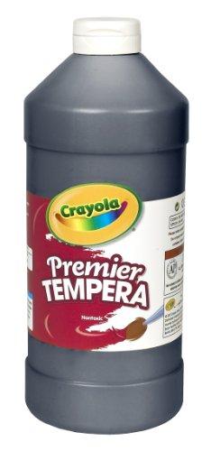 Crayola Premier Tempera Paint, 32-oz. Size, Black, 1 Unit, Quart (54-1232-051)
