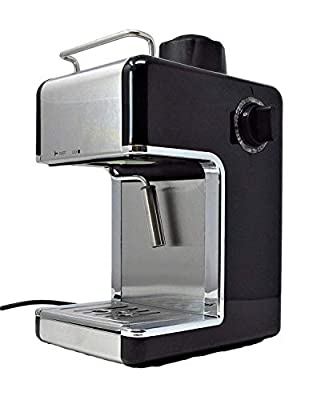 CookSpace Stainless Steel Coffee Espresso Cappuccino Latte Machine with Frother