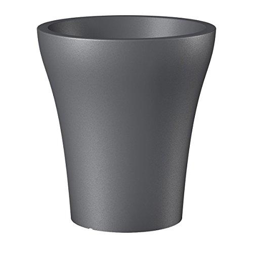 Scheurich 55454 264/32 No1 Style High Pot de Fleurs Plastique Gris Métallique 29 x 29 x 32 cm