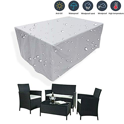 KIKCY- Funda impermeable para sofá y mesa de comedor de 25 tamaños de muebles de exterior, utilizado para protección de jardín, playa, patio, nieve, cubierta de polvo