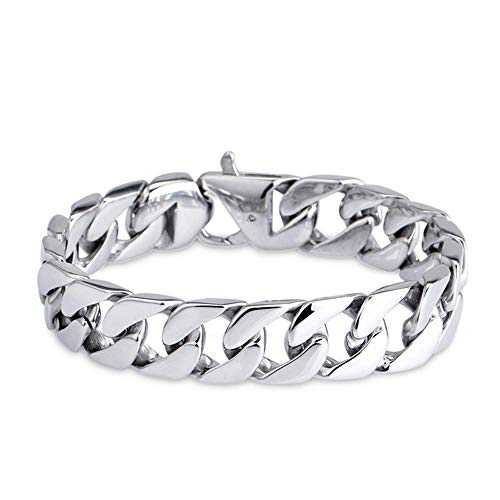 Minimalist Titanium Steel Bracelet, Titanium Steel Fashion Bracelet Titanium Steel Men's Bracelet Jewellery, Anniversaries or a Surprise for Men Women Steel 21 cm