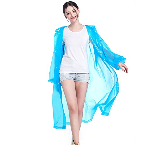 New Portable Adult Translucent Hooded Raincoat, Herbruikbare Outdoor Light Rain Poncho Regenjas (One Size),C