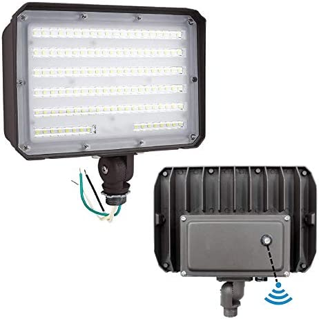 Dusk to Dawn Outdoor 100W LED Flood Light with Knuckle 14000LM 1000W Equivalent 100 277V 5000K product image