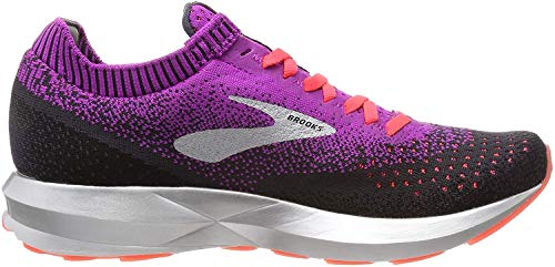 Brooks Damen Levitate 2 Laufschuhe, Violett (Purple/Fiery Coral/Black 596), 40.5 EU