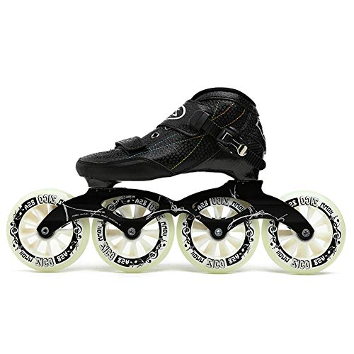 UYBAG Straight Rollers Skates Inline Skates Adult Inline Big Wheel Speed Skating Shoes Racing Shoes Adult Men and Women Skates Best Choice for Beginners Sports,45