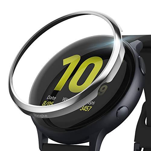 Ringke Bezel Styling Cover para Galaxy Watch Active 2 44mm (2019) Accesorio Adhesivo para Caja de Anillo de Bisel - Glossy Silver (GW-A2-44-01)