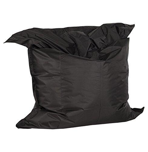 Alterego - Pouf géant 'LAZY' noir 180x140cm