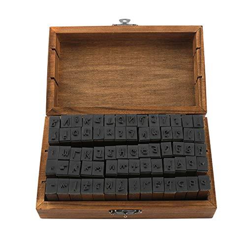 MOPION IWILCS 70 Stücke Stempel Set, Alphabet Buchstaben Briefmarken, Alphabet Buchstaben Zahlen Set, mit Aufbewahrungs Box Buchstaben Anzahl Symbol für Kunst Handwerk