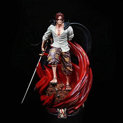 Apariencia de moda, personajes completos, es la me One Piece Anime Postura Postura Luchar Red Red Roed Figura Doll Decoration Versión Estatua Muñeca Escultura Decoración de Juguete Modelo Muñeca Altur
