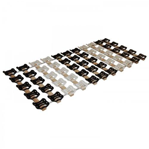 DaMi Rollrost RolloTel 90 x 200 cm - 5 Zonen Lattenrost Mit Tellermodulen & Individueller Härteverstellung
