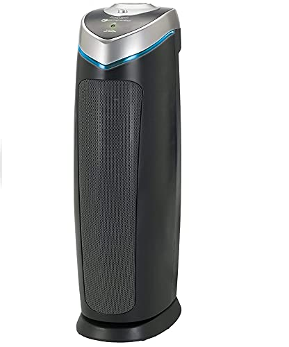 Product Image of the Germ Guardian True HEPA Filter Air Purifier with UV Light Sanitizer, Eliminates Germs, Filters Allergies, Pollen, Smoke, Dust Pet Dander, Mold Odors, Quiet 22 inch 4-in-1 Air Purifier for Home AC4825E