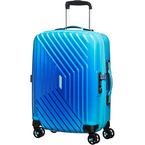 American Tourister - Air Force 1 Spinner 55/20 Bagaglio a Mano (55cm-34L), Blu (Gradient Blue)