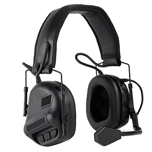 Electrónica Orejeras Orejeras de reducción de Ruido Protección Auditiva Anti Ruido Auriculares con micrófono para Hombres de Las Mujeres Negro