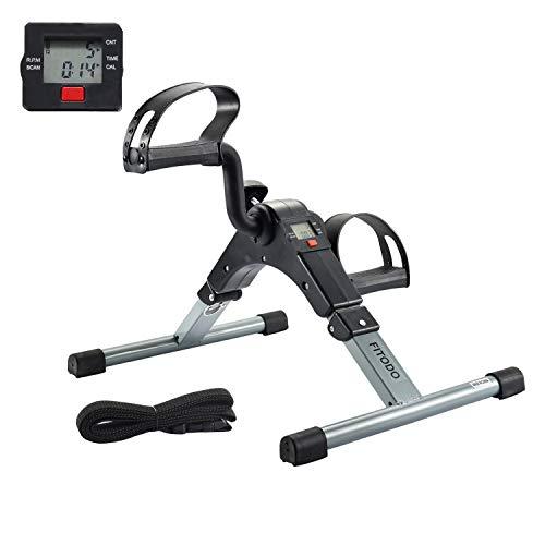 FITODO Heimtrainer Minibike Mini Fahrrad Pedaltrainer für Arm- und Beintrainer mit LCD-Monitor