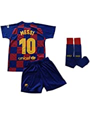 Champion's City Conjunto Completo Infantil - Messi - 10 - FC Barcelona Réplica Oficial Licenciado de la Primera Equipación Temporada 2019-2020