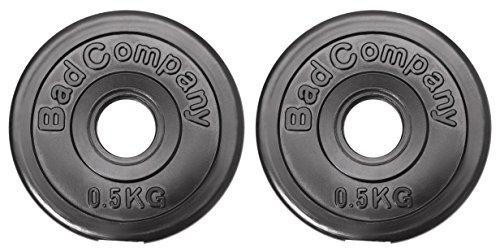 Bad Company Hantelscheiben Kunststoff ummantelt I 30/31 mm I 2 x 0,5 kg