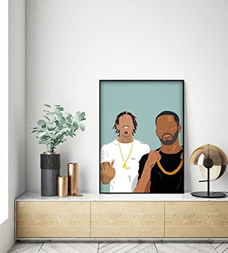 D-Block Europe Poster Rapper UK Minimalist Modern Art Poster sans cadre