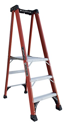Louisville Ladder FXP1803HD Fiberglass Pro Platform Ladder, Type IAA, 375-Pound Load Capacity, 3-Feet