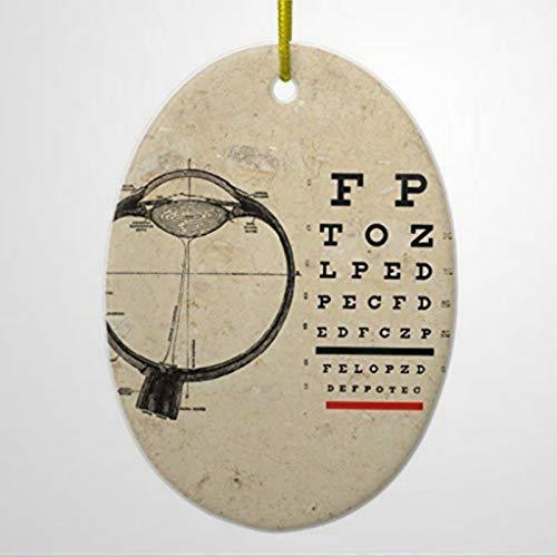 BYRON HOYLE Christmas Tree Decorations Vintage Ophthalmologist Optometry Eye Chart Ornament Oval Christmas Ornament Christmas Ornaments Pandemic Xmas Decor Wedding Ornament Holiday present