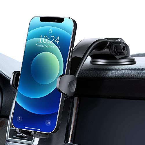 Modohe Soporte Movil Coche, Sujeta Movil Coche Universal con Brazo Ajustable y Ventosa Fuerte para Moviles Diferentes como iPhone 12 11 Pro X,Samsung S10 S9 S8, Huawei P40 Mate20 etc