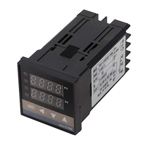 LANTRO JS - Indicador del instrumento del controlador de temperatura PID de 0-400 ℃, LED digital + termopar tipo K de 1 m + relé de estado sólido SSR de 25 A