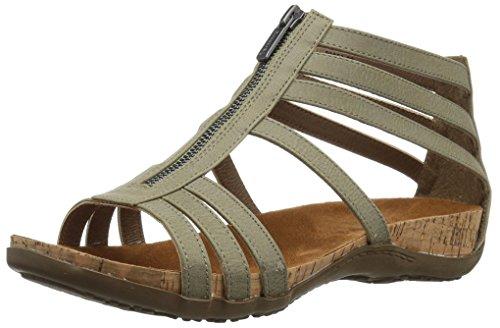 BEARPAW Women's Layla Heeled Sandal, Gray, 9 M US