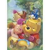 Full Drill Diamond Painting by Number Kits,5D DIY Diamond Embroidery Crystal Mosaic Paintings Arts Craft for Home Wall Decor (Winnie the Pooh 12X16 inch) (N)