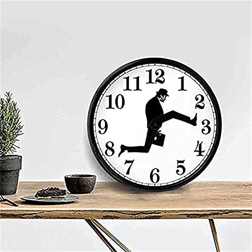 2021 Ministry of Silly Walks Clock - British Comedy Inspired Ministry of Monty Python Silly Walk Wall Clock,Funny Walking Silent Mute Clock,Novelty Wall Watch Home Decor,10 in