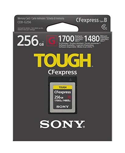 Sony CEB-G256 - Tarjeta de Memoria CFexpress ultrarápida (256GB, Lectura a 1700MB/s y Escritura a 1480MB/s)