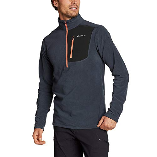 Eddie Bauer Men's Cloud Layer Pro 1/4-Zip Pullover, Storm Regular XL