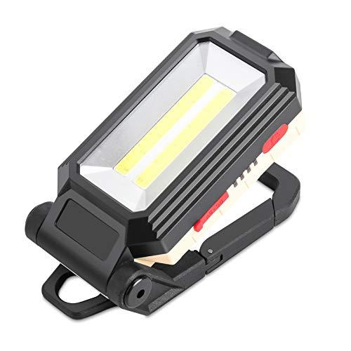 Komake Foco LED de trabajo recargable, con base magnética y gancho para colgar, 4 modos de brillo ajustable a 180 grados, lámpara de inspección para reparación de excursiones de camping y emergencias