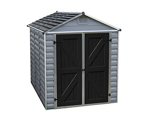 Palram Skylight Storage Shed - 6' x 8' - Gray