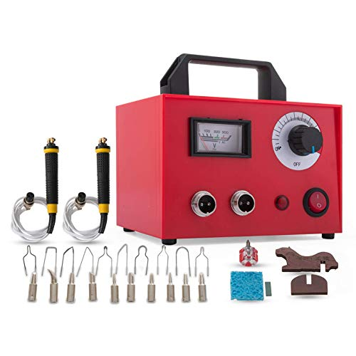 VEVOR Pirograbadora 100W 220V Kit de leña con 20 piezas Puntas de quemado Pirograbadora para quemar madera