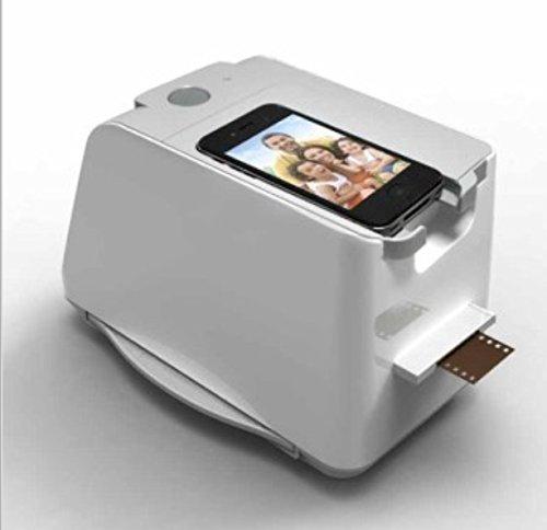 SainSonic FS de 034en 1–Escáner (1800dpi interpolados, 10bits por Canal de Color, con iphotojet App) para Smartphone iPhone 4, 4S, 5, 5S, Samsung S2S3Gris Color de * *