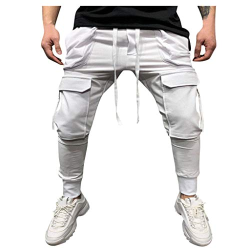 Pantalones Blancos Hombre Rotos Pantalones Vaqueros Hombre Pantalones De Rock...