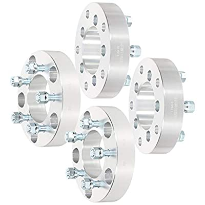 """OCPTY Replacement Parts Compatible with 5x5.5 to 5x4.5 with 1/2"""" Studs Wheel Spacers Adapters 5 Lug 1.5"""" 88mm CB fits for Ford E-150 for Dodge Ram 1500 Durango Dakota"""