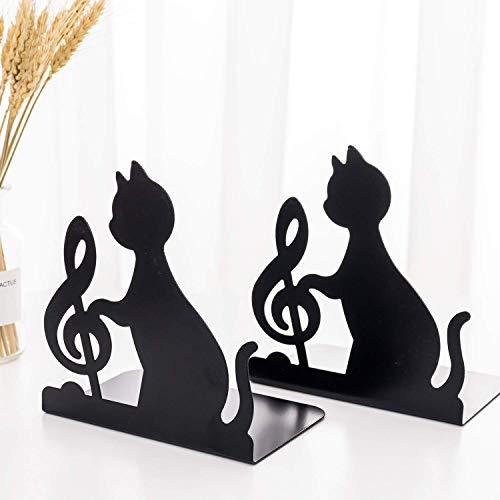 1 Paar Vivid Lovely Note Cat Buchstützen für Regale Bürokapazität mit großer...