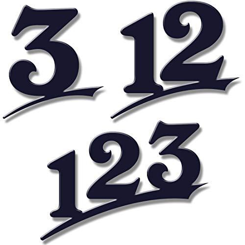 Hausnummer 1-stellig/20cm Ziffernhöhe in Anthrazit RAL7016,Schwarz oder Weiß