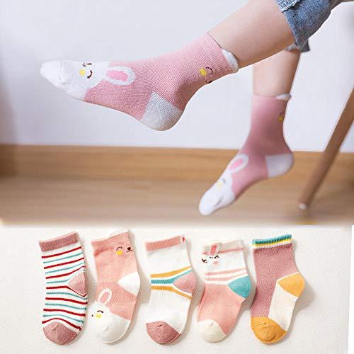 ROUNDER Baumwolle Baby Kinder Socken Herbst Niedlich Cartoon Jungen Sport Socken Komfortabler Druck Winter Kinder Socken 5 Paar Mädchen Socken-5